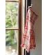 日本進口 倉敷意匠計画室 - 彈性織綿 長毛巾 - 紅格紋 ( 28478-02 )