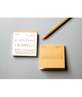 日本進口  倉敷意匠  drop around  傳票系列 - 正方形領収書 / 05_英語 ( 45411-05 )