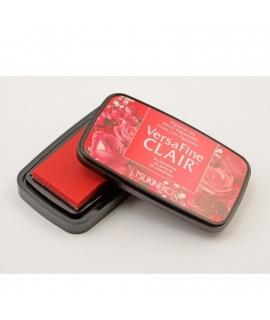 日本進口 TSUKINEKO月貓 VersaFine CLAIR 速乾 油性顏料系印台  亮色系列 - 魅力紅 Glamorous ( 201 )