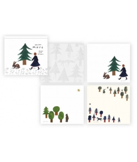日本進口 表現社 西淑nishishuku 和紙便箋 - 森林 ( 22-364 )