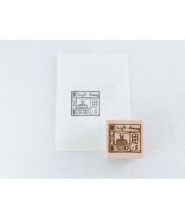 小徑 x 夏米花園 原創木質印章 Vol.1 - Shop-G2 (XM-ST-070)