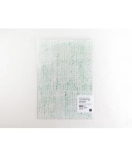 日本進口 山櫻和紙貼紙 小徑 x 夏米花園系列 - 白綠 Byakuroku ( MTK-CH306 )