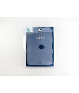 日本進口 LIFE 10th限定 Noble筆記本附透明收納袋 - 琉璃紺_A5橫罫 ( ZE003 )