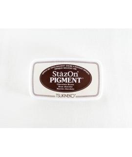 日本進口 TSUKINEKO月貓 StazOn PIGMENT速乾溶劑性、顏料系印台 - 巧克力咖 ( SZ-PIG-041 )