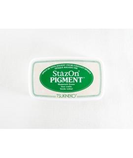 日本進口 TSUKINEKO月貓 StazOn PIGMENT速乾溶劑性、顏料系印台 - 酢漿草綠 ( SZ-PIG-051 )