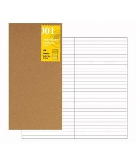 日本進口 Traveler's Notebook Refill 旅人筆記本_標準尺寸補充本 - 横罫( 14245006 )
