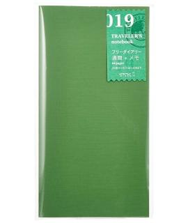 日本進口 Traveler's Notebook Refill 旅人筆記本_標準尺寸補充本 - 自填週間日記+方眼備忘本 ( 14331006 )