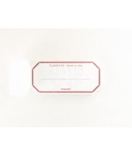 日本進口 倉敷意匠計畫室 凸版印刷便簽系列 - 水糊標籤紙_赤 ( 20319-03 )