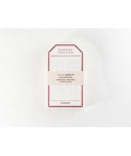 日本進口 倉敷意匠計畫室 凸版印刷便簽系列 - 標籤卡_赤 ( 20320-07 )