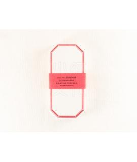 日本進口 倉敷意匠計畫室 凸版印刷便簽系列 - 八角_赤 ( 20320-09 )