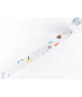 日本進口 水縞 當店原創和紙膠帶 - 幾何01 ( MT−K−01 )