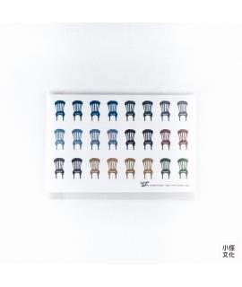 日本進口 倉敷意匠計畫室 - 関美穗子 貼紙 - 椅子_5枚入 ( 45333-03 )