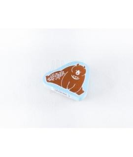 日本進口 KODOMO NO KAO x 田口奈津子 聯名 動物木製印章 - 棕熊 ( 1692-001 )