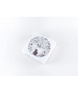 日本進口 KODOMO NO KAO x 田口奈津子 聯名 木製印章 - 山羊與黑貓 ( 1695-002 )