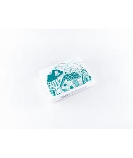 日本進口 KODOMO NO KAO x 田口奈津子 聯名 木製印章 - 陸地動物們 ( 1696-001 )