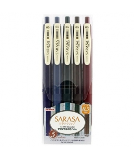 日本進口 斑馬ZEBRA SARASA CLIP 復古色中性筆 - 全五色 ( JJ15-5C-VI )