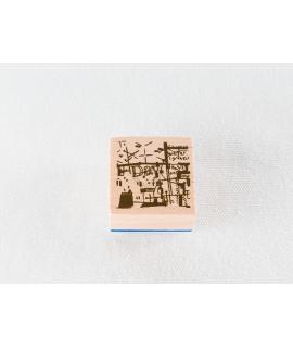 日本進口 夏米花園 原創木質印章 Vol.2 - Cafe-C-5 ( XM-ST-C5 )