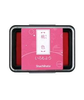 日本進口 shachihata 寫吉達 日本傳統色油性印台 - 桃色 ( HAC-1-LP )