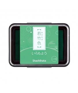 日本進口 shachihata 寫吉達 日本傳統色油性印台 -  若竹色 (HAC-1-PG )