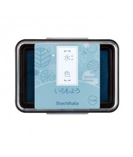日本進口 shachihata 寫吉達 日本傳統色油性印台 -  水色 (HAC-1-PB )