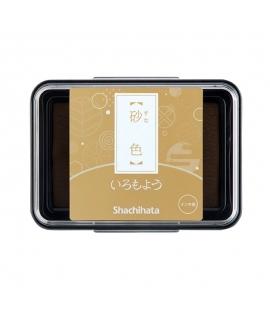 日本進口 shachihata 寫吉達 日本傳統色油性印台 - 砂色 ( HAC-1-PBR)