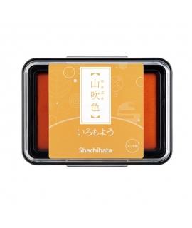 日本進口 shachihata 寫吉達 日本傳統色油性印台 - 山吹色 ( HAC-1-CY )