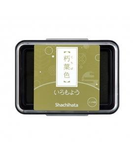 日本進口 shachihata 寫吉達 日本傳統色油性印台 - 朽葉色 ( HAC-1-OCG )