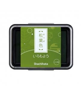 日本進口 shachihata 寫吉達 日本傳統色油性印台 - 松葉色 ( HAC-1-DYG )