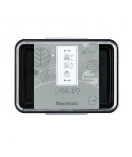 日本進口 shachihata 寫吉達 日本傳統色油性印台 - 銀鼠色 ( HAC-1-GR )