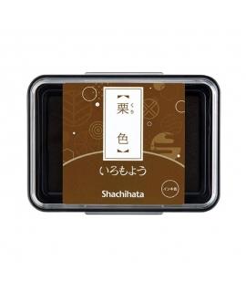日本進口 shachihata 寫吉達 日本傳統色油性印台 - 栗色 ( HAC-1-BR )