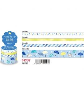 日本進口 MIND WAVE 和紙膠帶 - 下雨的日 ( 94907 ),四入一組