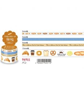 日本進口 MIND WAVE 和紙膠帶 - 麵包 ( 94911 ),四入一組