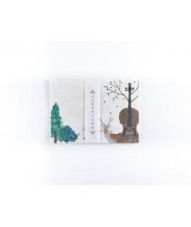 日本進口 表現社 x 日下明 美濃和紙信紙組 - 小鹿斑比和大提琴之丘 ( 20-295 )