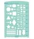 日本進口 VANCO 手帳專用描繪尺 - 基本 ( 39504 )
