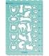 日本進口 VANCO 手帳專用描繪尺 - 貓咪 ( 39506 )