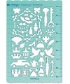 日本進口 VANCO 手帳專用描繪尺 - 古董 ( 39507 )