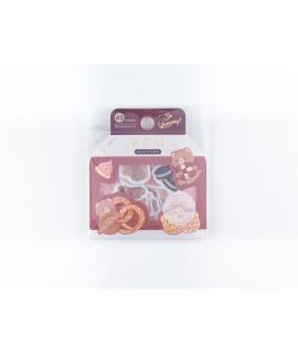 日本進口 BGM 和紙貼紙 點心系列 - 餅乾_小熊 ( BS-FG075 ),箔押