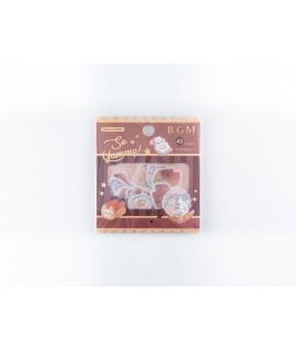 日本進口 BGM 和紙貼紙 點心系列 - 麵包_小貓 ( BS-FG080 ),箔押