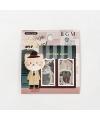 日本進口 BGM 和紙貼紙 換裝系列 - 貓紳士 ( BS-FF027 )