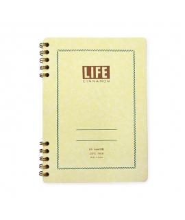 日本進口 LiFE特別抄造紙 筆記本 - 肉桂 ( N610 ),B6_方眼