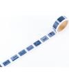 日本進口和紙膠帶 Shachihata 復刻印台系列 - 藍色 ( ZEV-TW-MTH-001 )