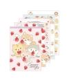 日本進口 San-X COROCORO CORONYA 捲捲麵包貓 草莓主題便箋本 - 粉色 ( MH03801 )
