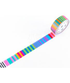 日本進口和紙膠帶 mt x Kapitza聯名款 - Candy Stripe ( MTKAPI08 )
