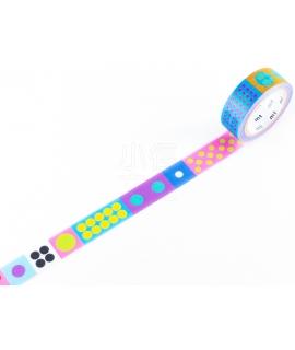 日本進口和紙膠帶 mt x Kapitza聯名款 - Polka Dot Vivid ( MTKAPI06 )