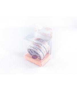日本進口和紙膠帶 ROUND TOP yano design feminine 箔押型拔系列 - 玫瑰金 (YD-MK-134),3入