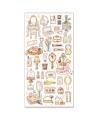 日本進口  Choupinet 珍珠紙箔押系列 貼紙 - 皇室梳妝用品 ( 80740 )