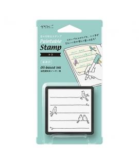 日本進口 midori 手帳專用浸透印 - 小鳥 ( 35398006 )