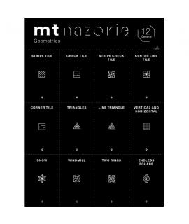 日本進口和紙膠帶 mt nazorie 專用幻燈片 系列 - 幾何圖 ( MTNZP03 )