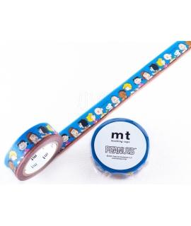 日本進口和紙膠帶 mt x PEANUTS聯名系列 - 史努比與牠的好朋友 ( MTPNUT01 )