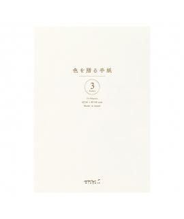日本進口 MIDORI 色を贈る手紙系列 A5信紙本 - 白色 ( 20567-006 ),横罫